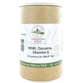 Herboristerie de Paris M.S.M Curcuma Vitamine E 150 gélules Herboristerie De Paris