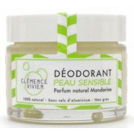 Clémence et Vivien Baume déodorant Peau sensible à la Mandarine 50gr Clemence & Vivien