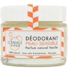 Clémence et Vivien Baume déodorant Peau sensible à la Vanille 50gr Clemence & Vivien