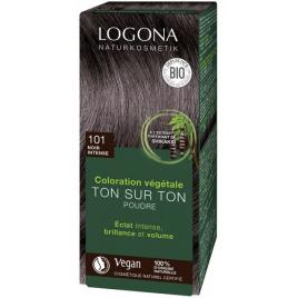 Logona Soin colorant végétal poudre noir intense 100g Logona