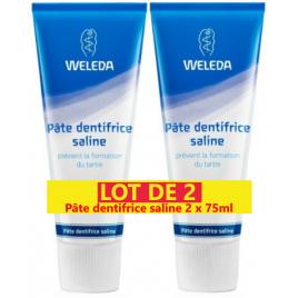Weleda Duo Pâte dentifrice saline anti tartre 2x75ml Weleda