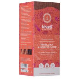 Khadi Coloration végétale Henné Amla et Jatropha cuivré 100 gr Khadi