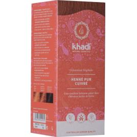 Khadi Coloration végétale Henné Pur cuivré 100 gr Khadi