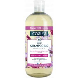 Coslys Shampooing Eclat couleur à l'Immortelle bleue 500ml cheveux colorés Onaturel