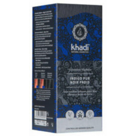 Khadi Teinture aux Plantes Indigo Pur Noir Froid 100g Khadi