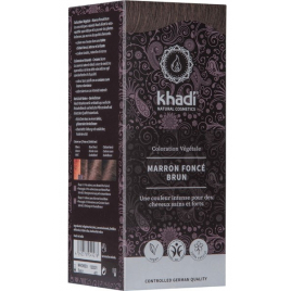 Khadi Teinture aux Plantes Marron Foncé 100 g Khadi