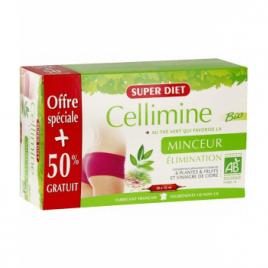 Super Diet Cellimine Bio au thé vert 20 + 10 ampoules OFFERTES 450ml Super Diet Accueil Onaturel.fr