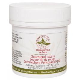 Cholesterol Excess Levure de riz rouge Commiphora Policosanol Q10 60 gélules Herboristerie De Paris