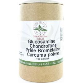 Herboristerie de paris Glucosamine chondroïtine Prêle Bromélaïne Curcuma Poivre 150 Gélules Herboristerie De Paris