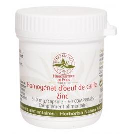 Herboristerie de Paris Homogénat d'Oeuf de Caille Zinc 60 Comprimés Herboristerie De Paris