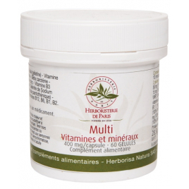 Herboristerie de Paris Multi Vitamines et minéraux 60 Gélules Herboristerie De Paris