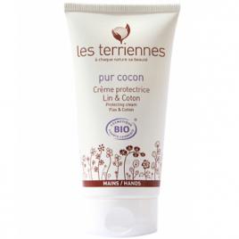 Les Terriennes Pur cocon Crème protectrice mains Lin et Coton Les Terriennes Categorie temp Onaturel.fr