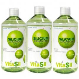 VitaSil Silicium Organique Pack Promo Lot de 3 x 500ml soit 1500ml VitaSil