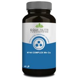Equi Nutri No 44 complexe Manganèse Cuivre Mn Cu 60 gélules végétales Equi - Nutri