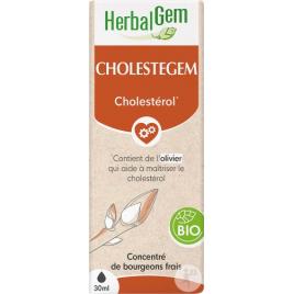 Herbalgem Cholestegem Bio Flacon compte gouttes 50ml Herbalgem Gemmobase