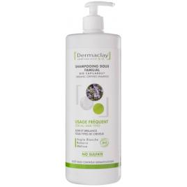 Dermaclay Shampoing doux familial Usage fréquent Argile blanche et extraits végétaux 1L Dermaclay