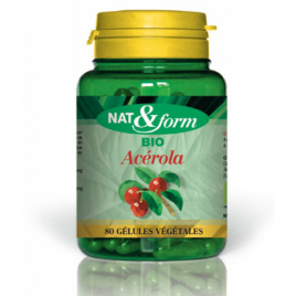 Nat et Form Acérola 80 gélules 230mg Nat et Form Immunité Onaturel.fr