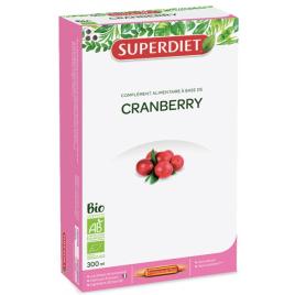 Super Diet Cranberry Bio 20 ampoules de 15ml soit 300ml Super Diet