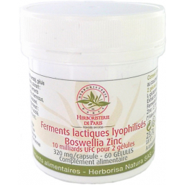 Herboristerie de Paris Ferments lactiques lyophilisés Boswellia Zinc MICI 60 Gélules Herboristerie De Paris