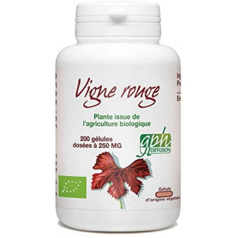 GPH Diffusion Vigne Rouge Bio 250 mg 200 gélules végétales GPH Diffusion
