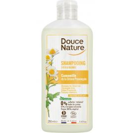 Douce Nature Shampooing Reflets Cheveux Blonds Avoine Camomille 300ml Douce Nature