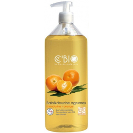 C'bio Bain et douche Agrumes Mandarine Orange 500ml C'bio