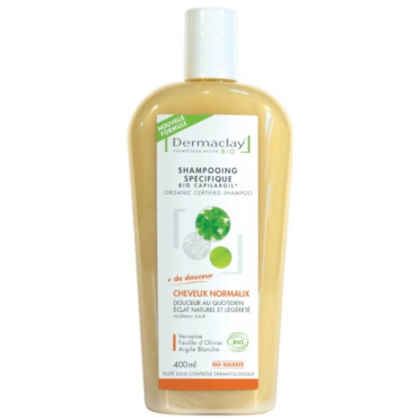 Dermaclay Capilargil Shampoing bio Cheveux Normaux 400 ml Dermaclay