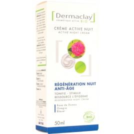 Dermaclay Crème active nuit régénération anti âge 50ml Onaturel