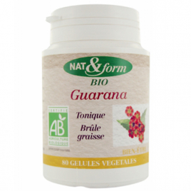 Nat et Form Guarana 80 gélules 250mg Nat et Form Minceur Onaturel.fr