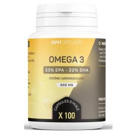 GPH Diffusion Omega 3 500mg 100 capsules GPH Diffusion