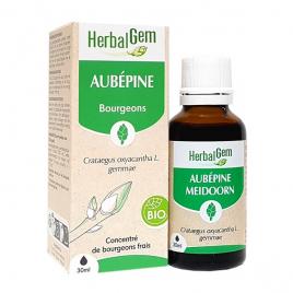 Herbalgem Gemmobase Aubépine bio Flacon compte goutes 50ml Onaturel