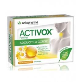 Arkopharma Activox Miel Citron 24 pastilles Onaturel