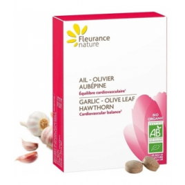 Fleurance Nature Ail Olivier Aubépine Bio 60 comprimés Onaturel