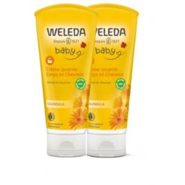 Weleda Duo crème lavante corps et cheveux au Calendula bébé 200ml Weleda Categorie temp Onaturel.fr