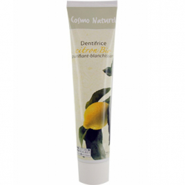 Cosmo Naturel Dentifrice Citron blanchissant 75ml Cosmo Naturel Dentifrices bio Onaturel.fr