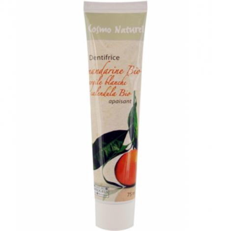 Cosmo Naturel Dentifrice Mandarine Argile blanche Calendula apaisant 75ml