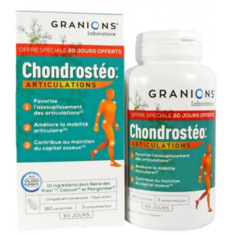 Granions Chondrostéo Plus 180 comprimés Format Eco 2 mois Ea Pharma