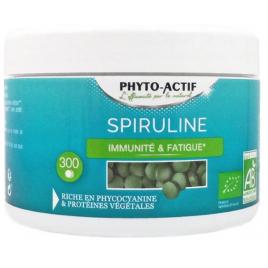 Phyto-Actif Spiruline bio 100% naturelle 300 comprimés Onaturel