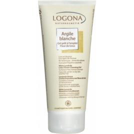 Logona Argile blanche gel prêt à l'emploi Fleur de Lotus cheveux et corps 200ml Logona