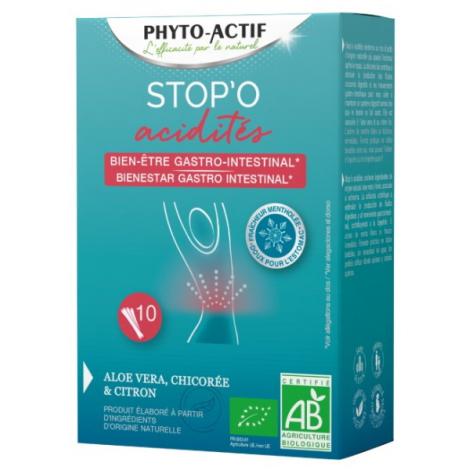 Phyto-actif Stop'O acidités 10 sticks buvables Phyto-Actif