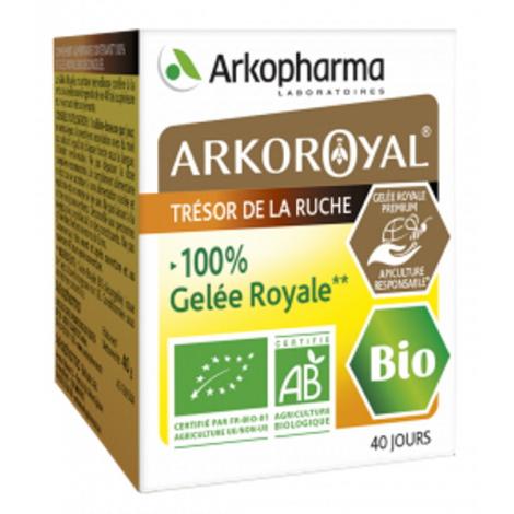 Arkopharma Arkoroyal Gelée Royale 100% PURE Bio en pot de 40 grammes Onaturel