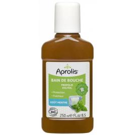 Aprolis Bain de bouche Propolis et Xylitol goût Menthe 250ml hygiène dentaire gencives Onaturel