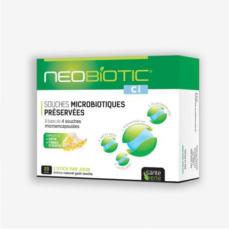 Santé Verte Neobiotic CI 20 Sticks ferments préservés Onaturel