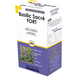 Nutrigee Basilic Sacré fort Anti stress naturel 30 comprimés Nutrigee