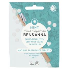 Ben et Anna Dentifrice solide goût menthe 100 pastilles sans fluor 36 gr Ben et Anna