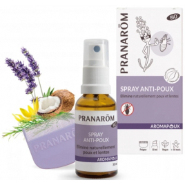 Pranarôm Spray Anti Poux 30ml avec peigne Aromapoux Pranarôm