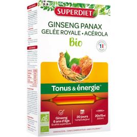 Super Diet Ginseng Gelée Royale Acerola bio 20 ampoules 15ML Super Diet