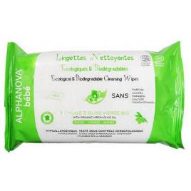 Alphanova 60 Lingettes nettoyantes écologiques à l'huile d'olive vierge bio Alphanova