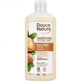 Douce Nature Shampooing cheveux secs et abîmés Huile d'Argan 250ml Douce Nature