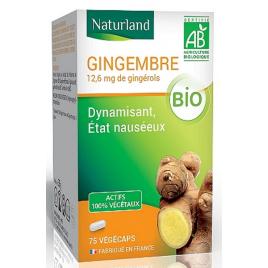 Naturland Gingembre bio 75 gélules végécaps Onaturel